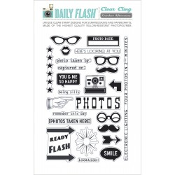 Capture This! Daily Flash Clear Cling Stamp Set October Afternoon