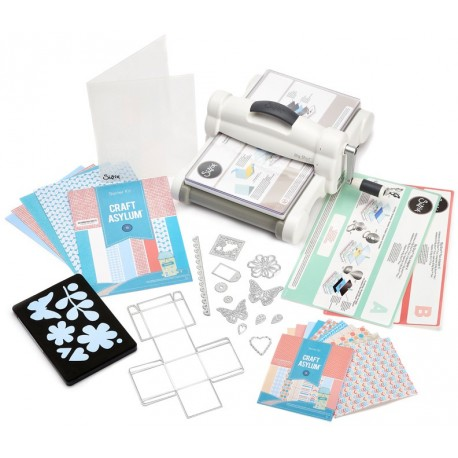 White & Gray Big Shot Plus Starter Kit Sizzix