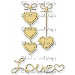 Hanging Hearts & Love Word Die La-La Land Crafts