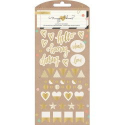 Confetti Puffy Gold Stickers by Maggie Holmes 44 Pkg Crate Paper