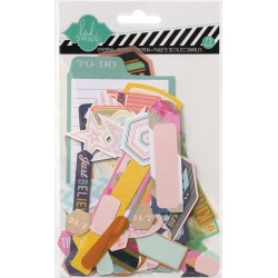 Cardstock & Vellum Shapes Mixed Media Ephemera Die-Cuts 73 Pkg Heidi Swapp