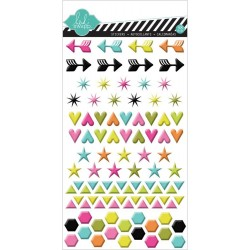 Shapes Puffy Gloss Stickers Favorite Things Heidi Swapp