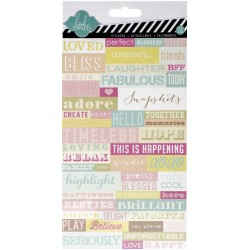 Word Jumble Dreamy Cardstock Stickers Heidi Swapp