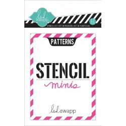 "Patterns Mini Stencil Kit 3""x4"" Heidi Swapp"