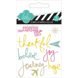 "Journey Clear Mini Stamps 3""x3,5"" Heidi Swapp"