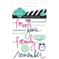 "Remember Clear Mini Stamps 3""x3,5"" Heidi Swapp"