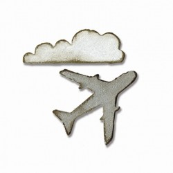 Airplane & Cloud Sizzix Movers & Shapers Magnetic by Tim Holtz