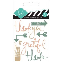 "Thank You Clear Mini Stamps 3""x3,5"" Heidi Swapp"