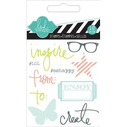 "Inspire Clear Mini Stamps 3""x3,5"" Heidi Swapp"