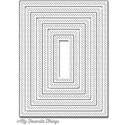 Inside & Out Diagonal Stitched Rectangle Die-namics