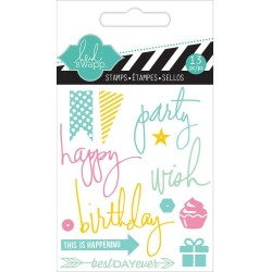 "Party Clear Mini Stamps 3""x3,5"" Heidi Swapp"