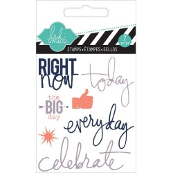 "Right Now Clear Mini Stamps 3""x3,5"" Heidi Swapp"
