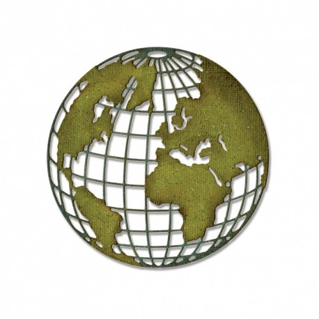 Globe Sizzix Thinlits by Tim Holtz