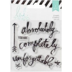 "Memorydex Words Wanderlust Acrylic Stamps 3,5""x3,5"" Heidi Swapp"