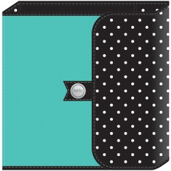 "Turquoise & Polka Dot Project Life Planner Album 6""x8"""