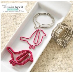 Birds & Bubbles Hello World Variety Pack Decorative Paper Clips 10 Pkg Webster's Pages