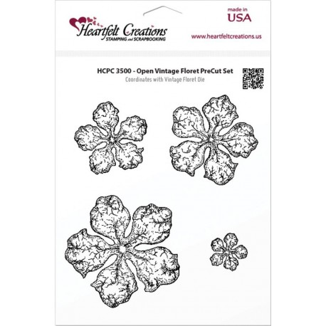 Open Vintage Floret Cling Stamps Heartfelt Creations