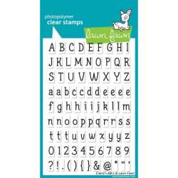 "Claire's ABCs Clear Stamps 4""x6"" Lawn Fawn"