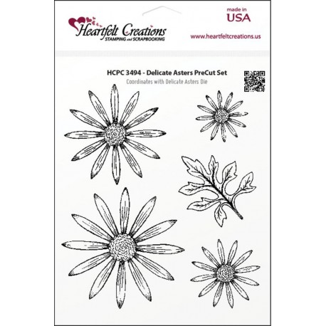 Delicate Asters Cling Stamps Heartfelt Creations