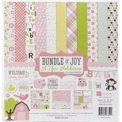 """Baby Girl Bundle Of Joy A New Addition Collection Kit 12""""x12"""" Echo Park"""