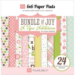 """Baby Girl Bundle Of Joy A New Addition 6""""x6"""" Paper Pads Echo Park"""