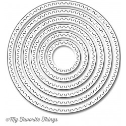 Zig Zag Stitched Circle Die-namics
