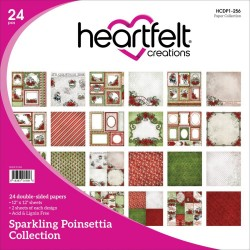 "Sparkling Poinsettia Collection 12"" x 12"" Heartfelt Creations"