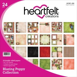 "Blazing Poppy Collection 12"" x 12"" Heartfelt Creations"