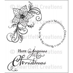 Sparkling Poinsettia Swirl Cling Rubber Stamps Heartfelt Creations