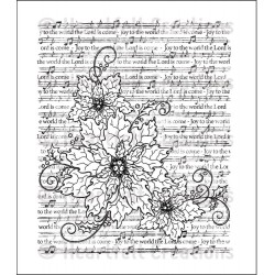 Sparkling Poinsettia Notes Cling Rubber Stamps Heartfelt Creations