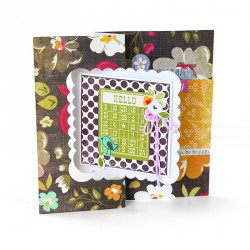 Card Scallop Square Flip-its Movers & Shapers Bigz L Die Sizzix