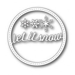 Stitched Let It Snow Circle Frame Memory Box Die