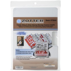 Handy Cling & Clear Stamp Storage System Refill Sheets 4 Pkg Zutter