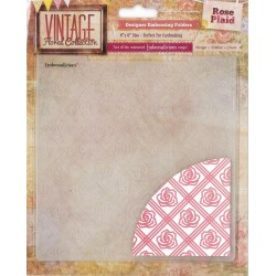 "Rose Plaid Embossalicios Embossing Folders 6""x6"" Crafter's Companion"