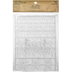 Frozen Clear Icicle Borders & Snowflakes Plastic Alpha Parts Idea-ology by Tim Holtz