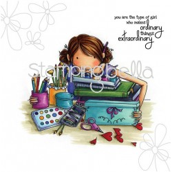 Uptown Girl Jayden Love To Journal Stamping Bella Cling Rubber Stamp