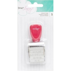 12 Phrases Dear Lizzy Lucky Charm Roller Stamp