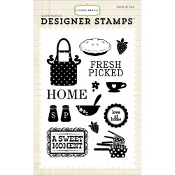 "Home Sweet Home Clear Acrylic Stamps 4""x6"" Carta Bella"