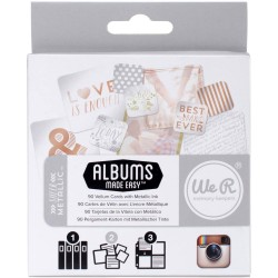 Vellum Cards Sheer Metallic Project Life 90 Pkg American Crafts