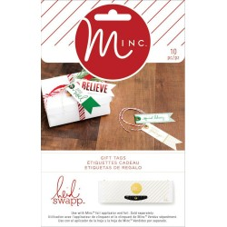 Assorted Christmas Banner Tags Minc Collection 10 Pkg Heidi Swapp American Crafts