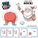 Santa Shake Set Shake Your Booty Cling Rubber Stamp Art Impressions