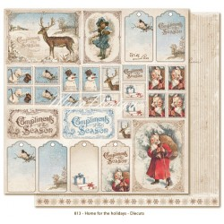 "Carta Diecuts 12""x12"" Home for the Holidays Collection Maja Design"