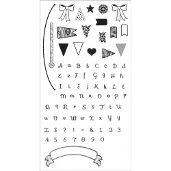 Banners & Alphabet Clear Stamps By Rachael Bright Sizzix