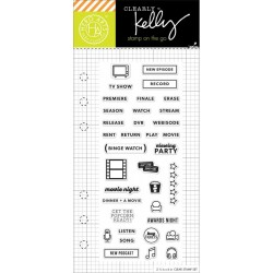 "Timbro School Planner Clear Stamps 2,5""x6"" Kelly Purkey Hero Arts"