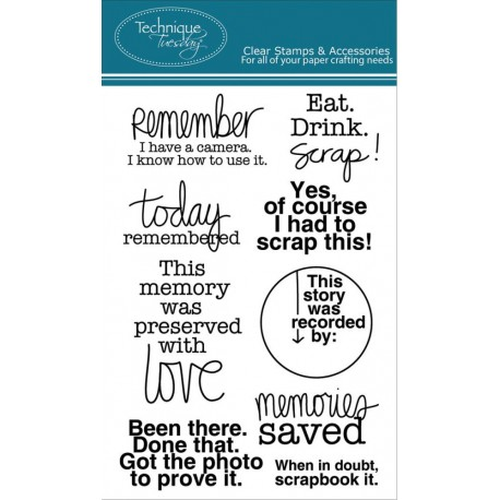"""Smile Borders Clear Stamps 4""""x6"""" Technique Tuesday"""