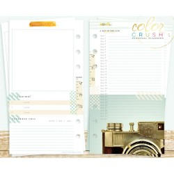 Week Planner Personal Planner Calendar A2 Inserts Color Crush Webster's Pages