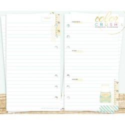 Staying Inspired 4 Designs Personal Planner A2 Inserts Color Crush Webster's Pages