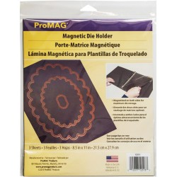 "ProMag Magnetic Die Holder Sheets 3 Pkg 8,5""x11"""