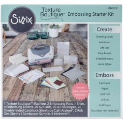 Gray & White Texture Boutique Embossing Starter Kit Sizzix