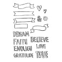 "Banner of Faith Documented Faith Clear Stamps 4""x6"" ADORNit"